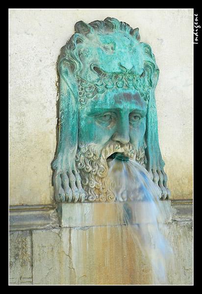La tête de la fontaine