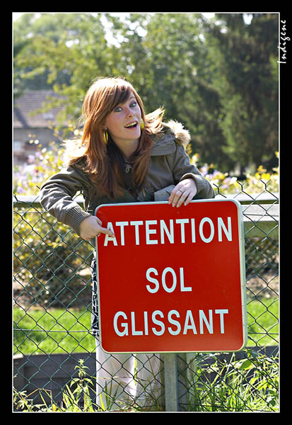 Attention ! Sol glissant