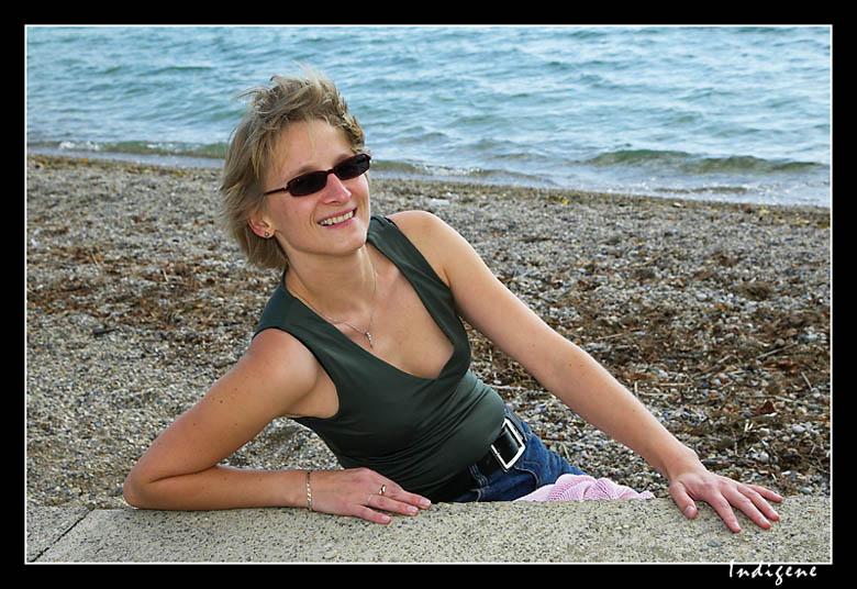 Barbara à la plage