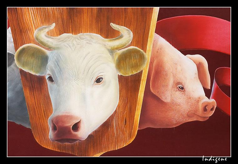 La vache et le cochon