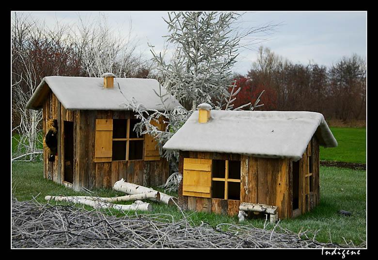 Les  cabanes de bois