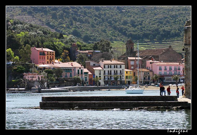 Collioure : ville très colorée