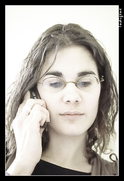 Lucile au téléphone