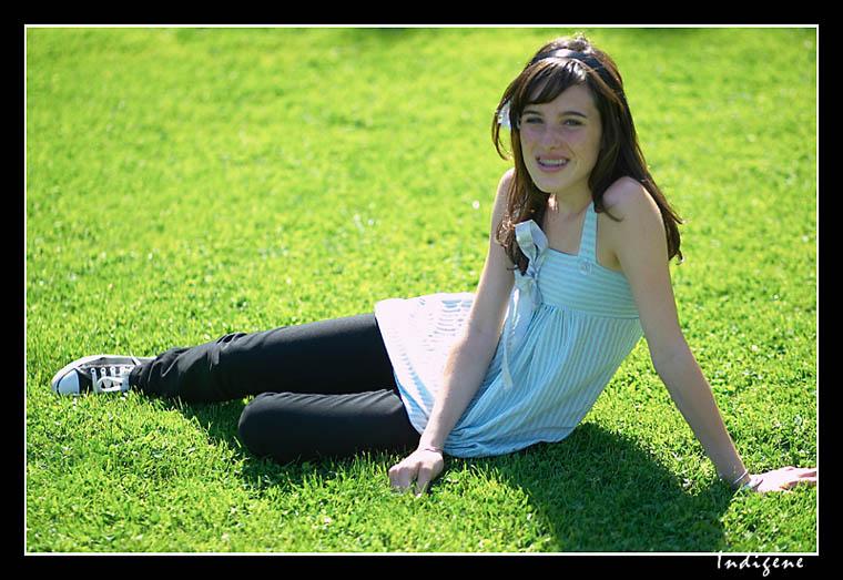 Repos sur l'herbe