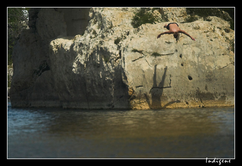 Plongeur du Pont du Gard