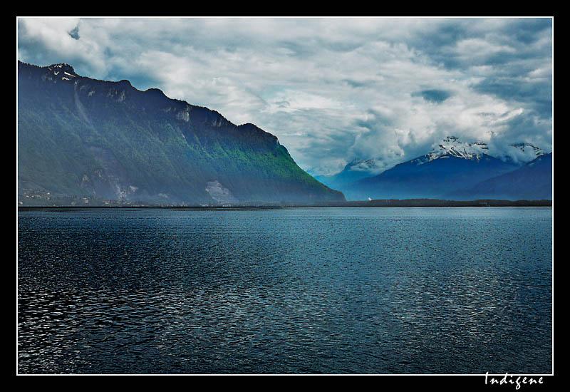 Le lac Leman à Montreux