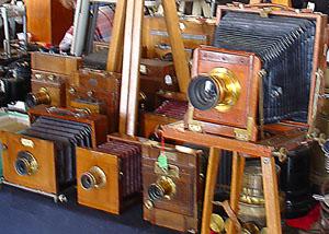 premières chambres photographiques en bois