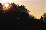photo Coucher de soleil sur le parc du Chateau