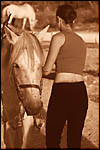 photo Le cheval et la cavalière