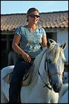 photo La cavalière heureuse