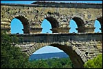 photo 3° rangée d'arches du Pont du Gard