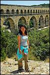 photo Touristes au Pont du Gard