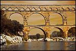 photo Coucher de Soleil sur le Pont du Gard