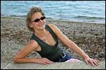 photo Barbara à la plage