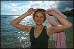photo Barbara devant le lac