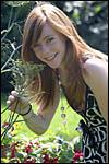 photo Cindy et les fleurs