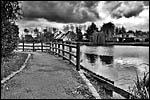 photo Le Lac du Château en NB