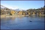 photo Vélo sur le lac gelé