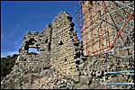 photo Les ruines et les échaffaudages