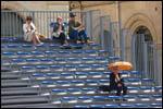 photo Parapluie dans les gradins