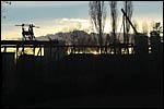 photo Coucher de soleil sur le barrage à aiguilles