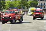 photo Les pompiers dans la caravane