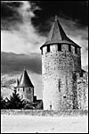 photo Carcassonne en noir et blanc