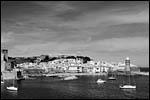 photo Collioure en noir et blanc