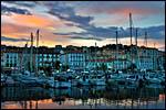 photo Coucher de soleil sur le port