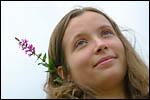 photo L'écrivain à la petite fleur