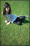 photo Allongée sur l'herbe