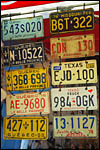 photo Les plaques d'immatriculation