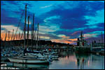 photo Coucher de soleil sur Port-Vendres